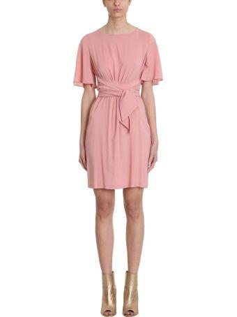 L'Autre Chose Pink Cr?pe Dress
