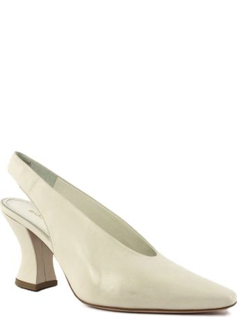 Aldo Castagna Bott Pumps In White Leather