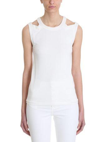 Sonia Rykiel Cut Out White Top