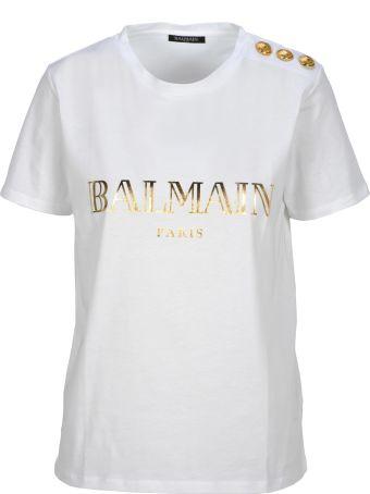 Balmain Short Sleeve Buttons Classic Logo