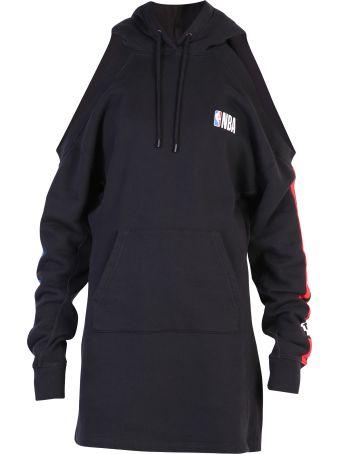 Marcelo Burlon Black Sweatshirt Dress