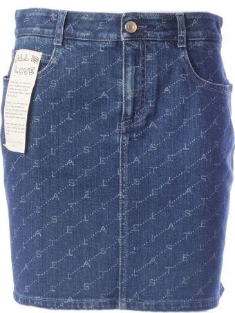 Stella McCartney Logo Denim Skirt