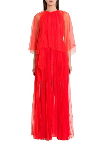 Maria Lucia Hohan Peonie Pleated Tulle Midi Dress