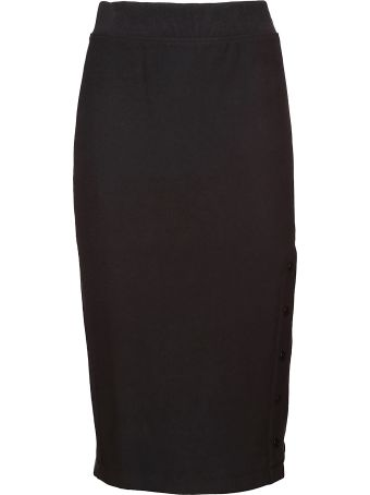Champion Logo Embroidered Pencil Skirt