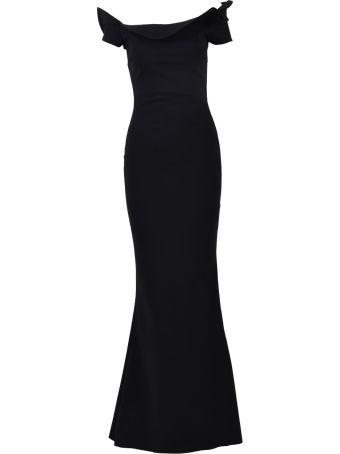 La Petit Robe Di Chiara Boni Zaina Long Gown Black