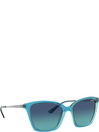 Vogue Eyewear Vogue Vo5333s Top Blue On Transparent Green Sunglasses