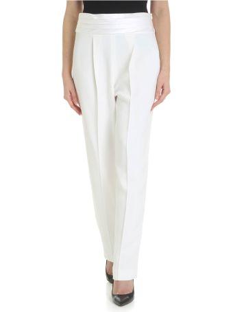 Emporio Armani White Viscose Trousers