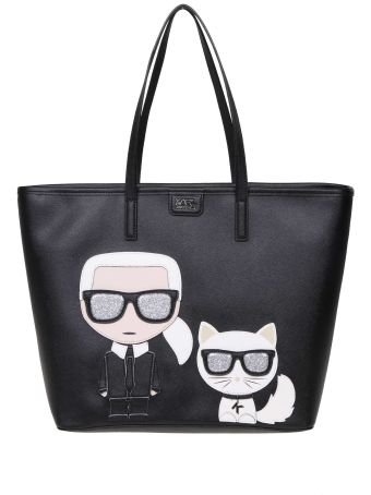 Karl Lagerfeld Shopping Print Iconica Color Black