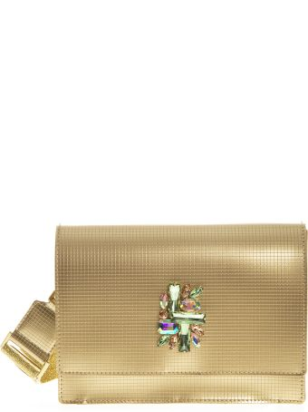 Gianni Chiarini Gold Vinyl Dolly Bag