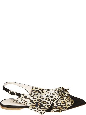 GIA COUTURE Animal Print Slingback Sandals