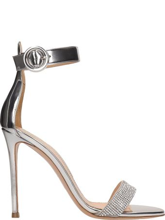 Lerre Laminated Silver Leather Sandals