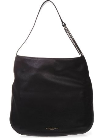 Gianni Chiarini Leather Shoulder Bag In Black Color
