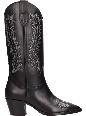 Paris Texas Black Leathertexan Boots