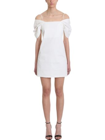 Theory Puffed White Cotton Dress