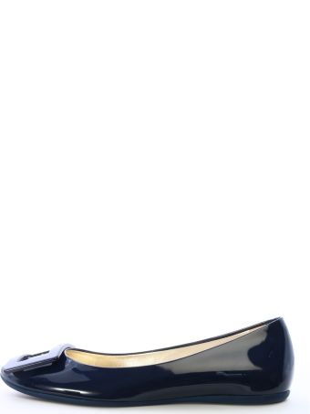 Roger Vivier Ballet Shoes Blue Patent