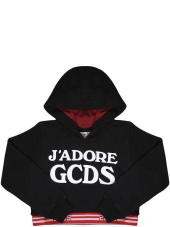 "GCDS Mini Black Sweater ""j'adore Gcds"" Of"