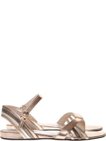 Marc Ellis Patent Platinum Leather Sandals