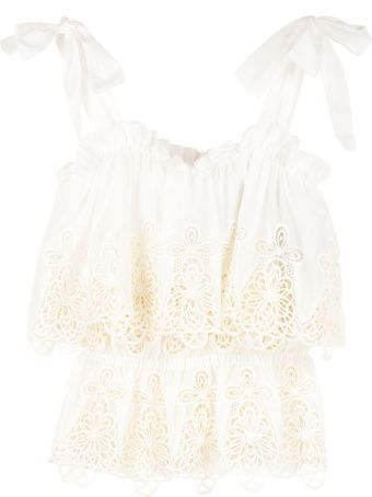 Dolce & Gabbana Embroidered Cotton Top
