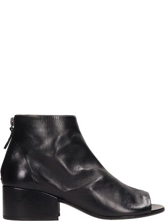 Marsell Black Leather Cubeto Ankle Boots