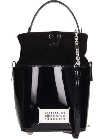 Maison Margiela Black Leather And Suede Bag