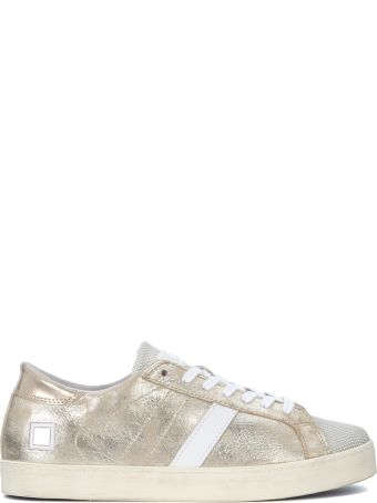 D.A.T.E. Hill Low Stardust Platinum Laminated Leather Sneaker