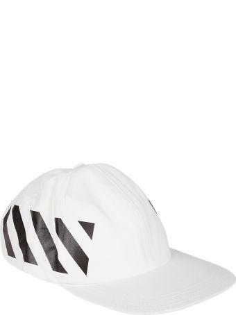 Off-White Street Style Stripe Print Cap