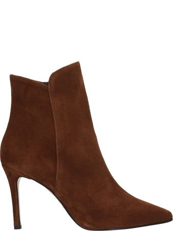 Marc Ellis Brown Suede Leather Ankle Boots