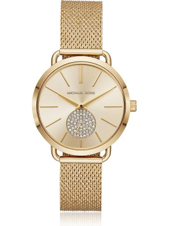 Michael Kors Portia Mesh Gold Tone Watch