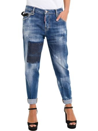 Dsquared2 Hockney Distressed Baggy Jeans