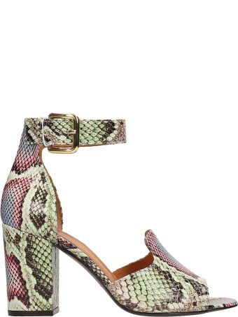 Via Roma 15 Multicolor Leather Sandals
