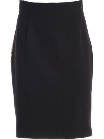 Versace Collection Logo Pencil Skirt