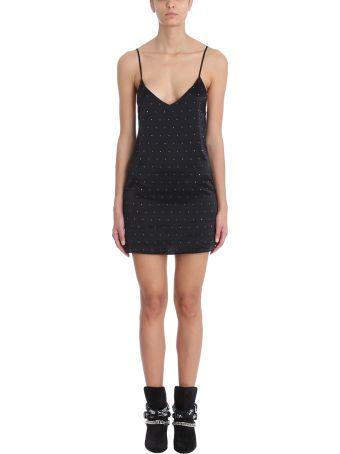 AMIRI Black Silk Short Dress
