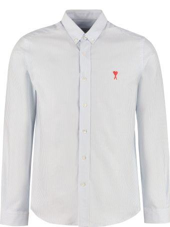 Ami Alexandre Mattiussi Striped Cotton Button-down Shirt