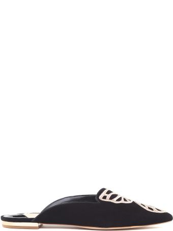 Sophia Webster Bibi Butterfly Suede Backless Flats