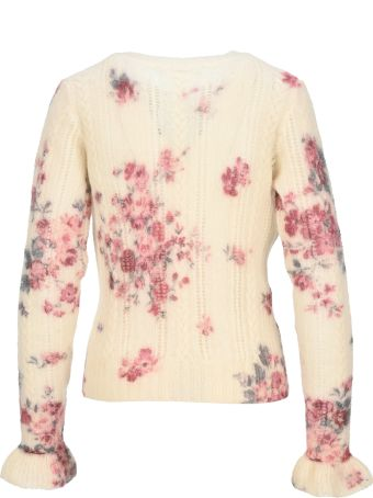 Philosophy di Lorenzo Serafini Philosophy Floral Ruffle Sweater