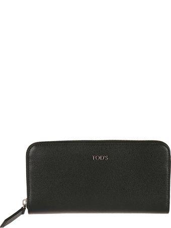 Tod's Logo Plaque Zip Around Wallet