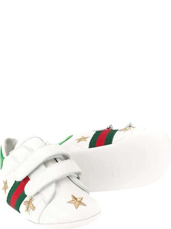 Gucci White Baby Shoes