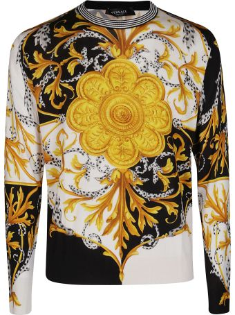Versace Multicolor Cotton Baroque Sweatshirt
