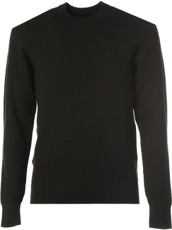 Fred Perry Green Crewneck Jumper