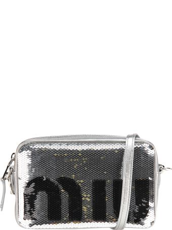 Miu Miu Camera Bag Pailettes Logo