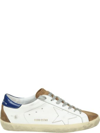 "Golden Goose ""superstar"" Sneakers In White Leather With Suede Details"