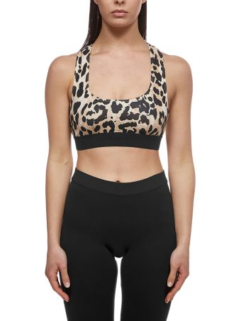 Paco Rabanne Leopard Cropped Tank Top