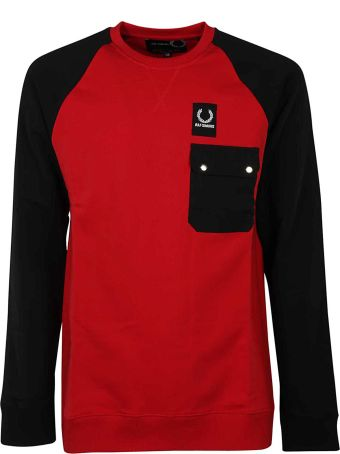 Fred Perry Raf Simons X Fred Perry Bicolor Pocket Sweatshirt