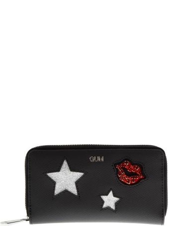 Gianni Chiarini Black Wallet With Glittered Decorations Applied