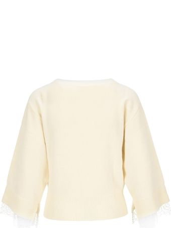 See by Chloé See By Chloe' Lace Cuffs Jumper