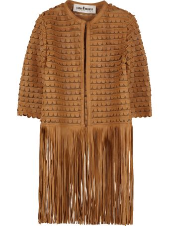 Caban Romantic Leather Fringed Jacket