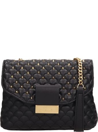 Visone Black Quilted Leather Alice Bag