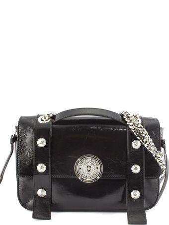 e62b6dbed59f Balmain Shoulder Bag In Black Leather.
