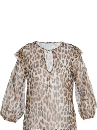 Alice + Olivia Sissy Leopard Blouse