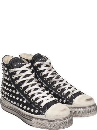 Gienchi J.m.high Sneakers In Black Rubber/plasic
